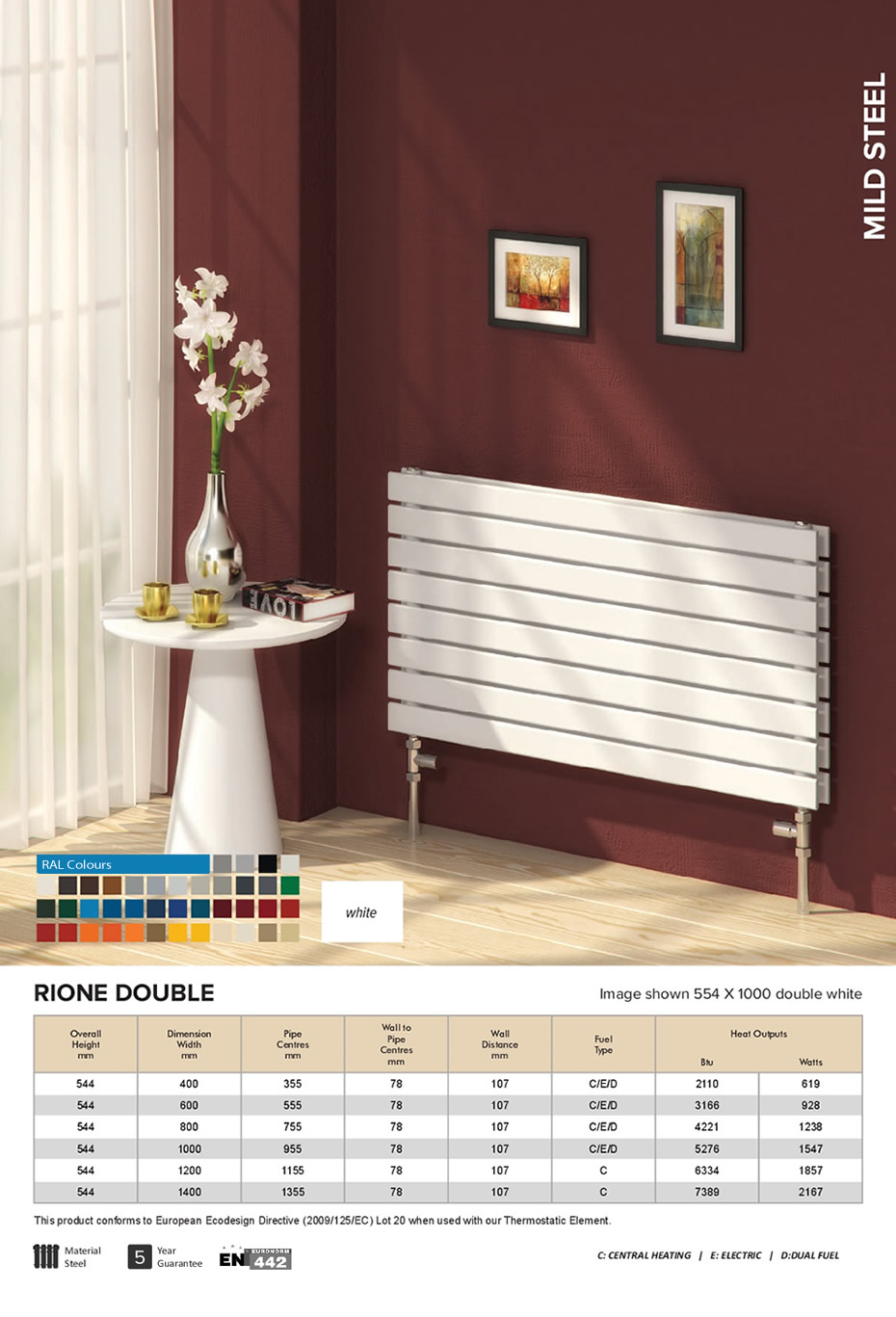 reina rione double horizontal